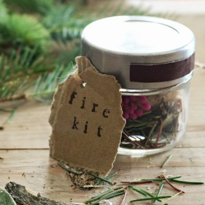 Fire Starter kit in a jar – Let's go Glamping