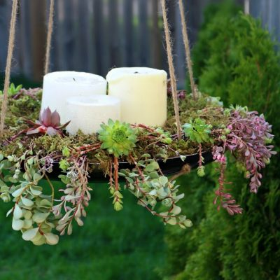 Hanging succulent centrepiece tutorial