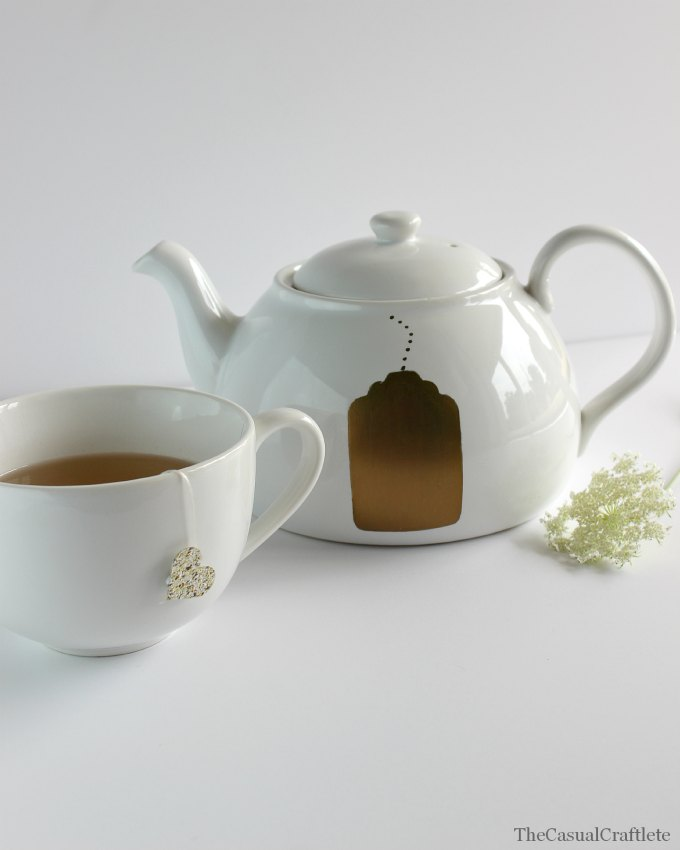 DIY Gold Sharpie Oil Based Teapot