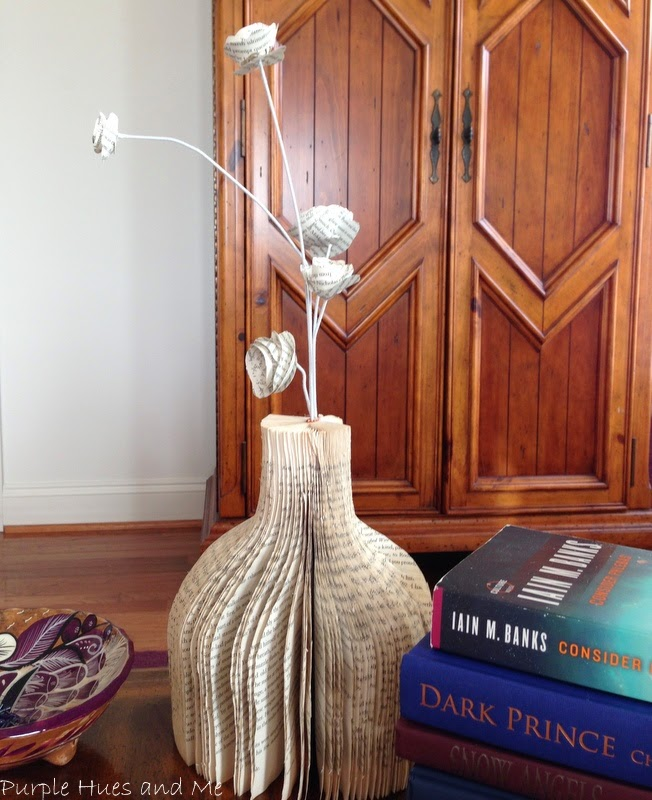Make a vase out of a book