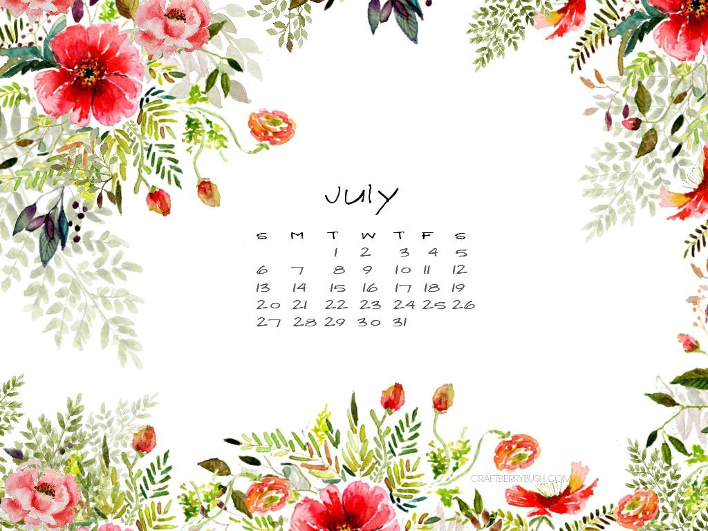 July free desktop calendar – better late than never…