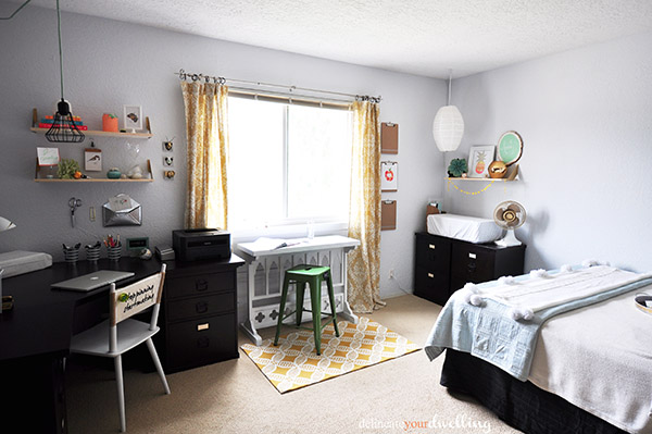 7 Guest Room Office Makeover