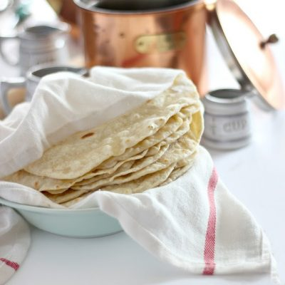 Super quick and easy homemade flour tortilla recipe