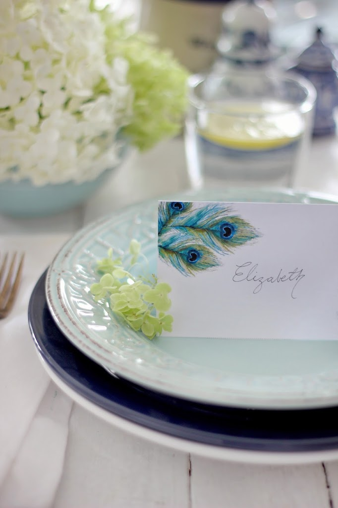 Free watercolor place card