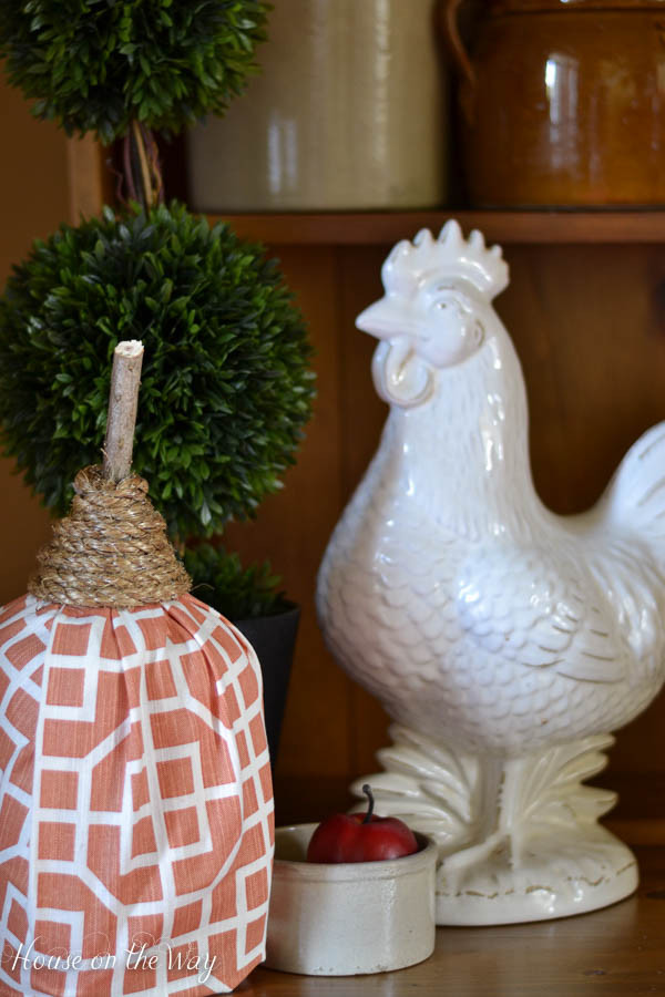 Fall in Love with Fall - Fabric covered milk jug pumpkin