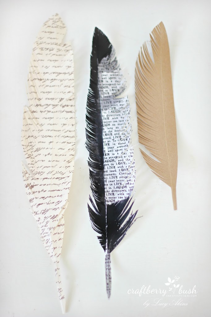Paper feather wreath tutorial for Where can i buy feathers for crafts
