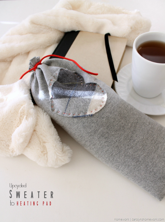 Upcycled Sweater to Heating Pad via homework - carolynshomework (5)[5]