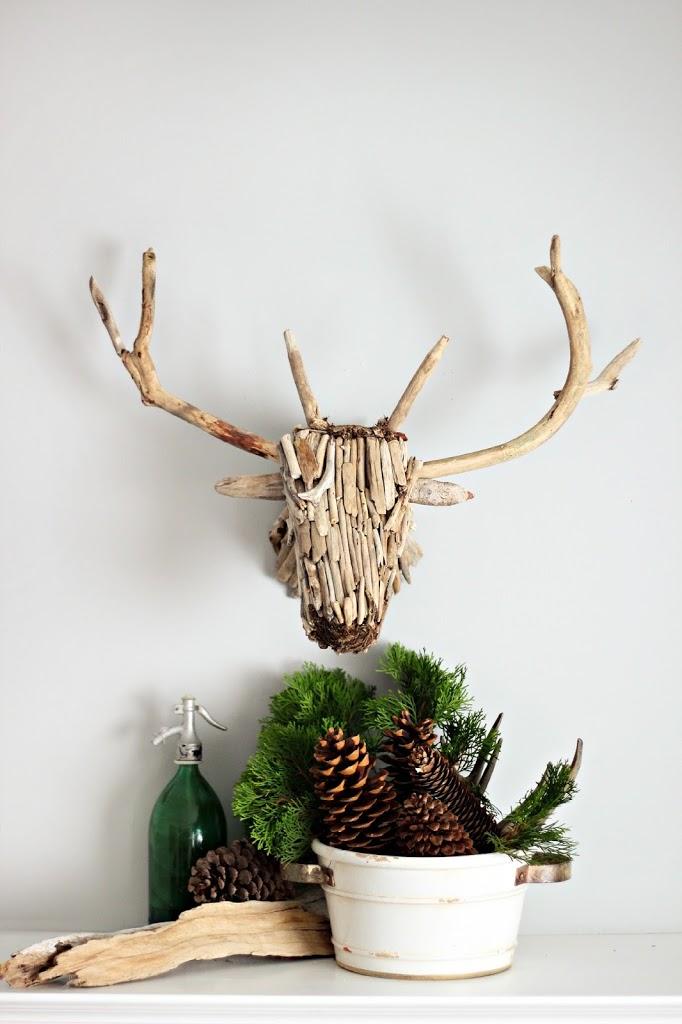 Driftwood deer head taxidermy – One item challenge