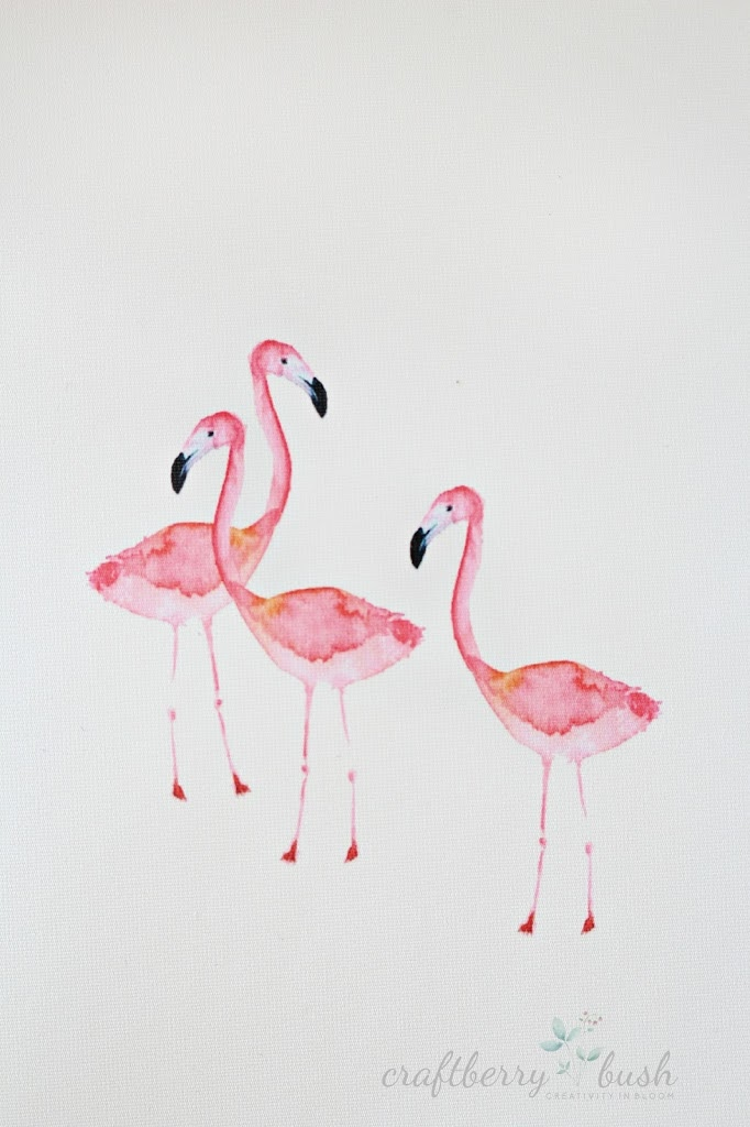 Watercolor Flamingo Wallpaper