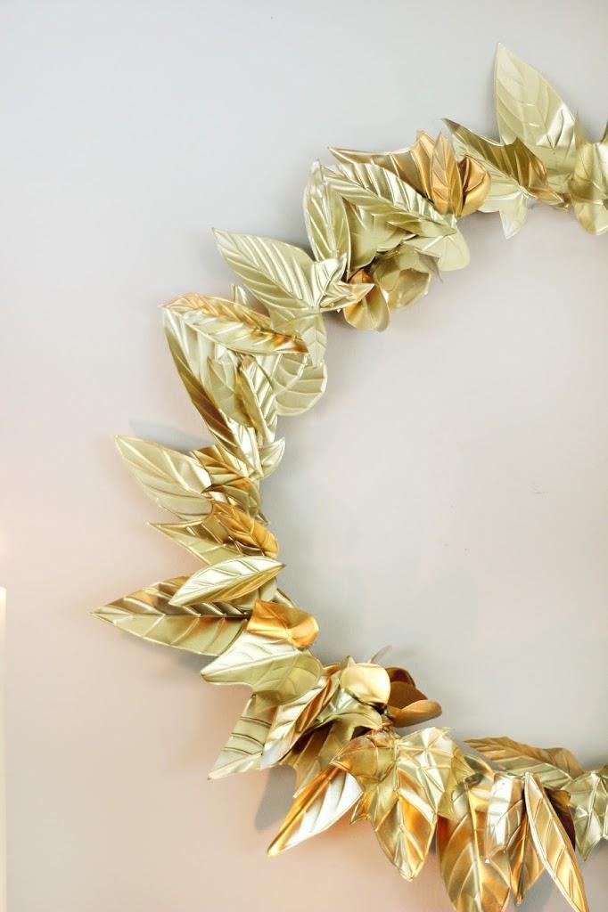 Embossed Foil Wreath DIY
