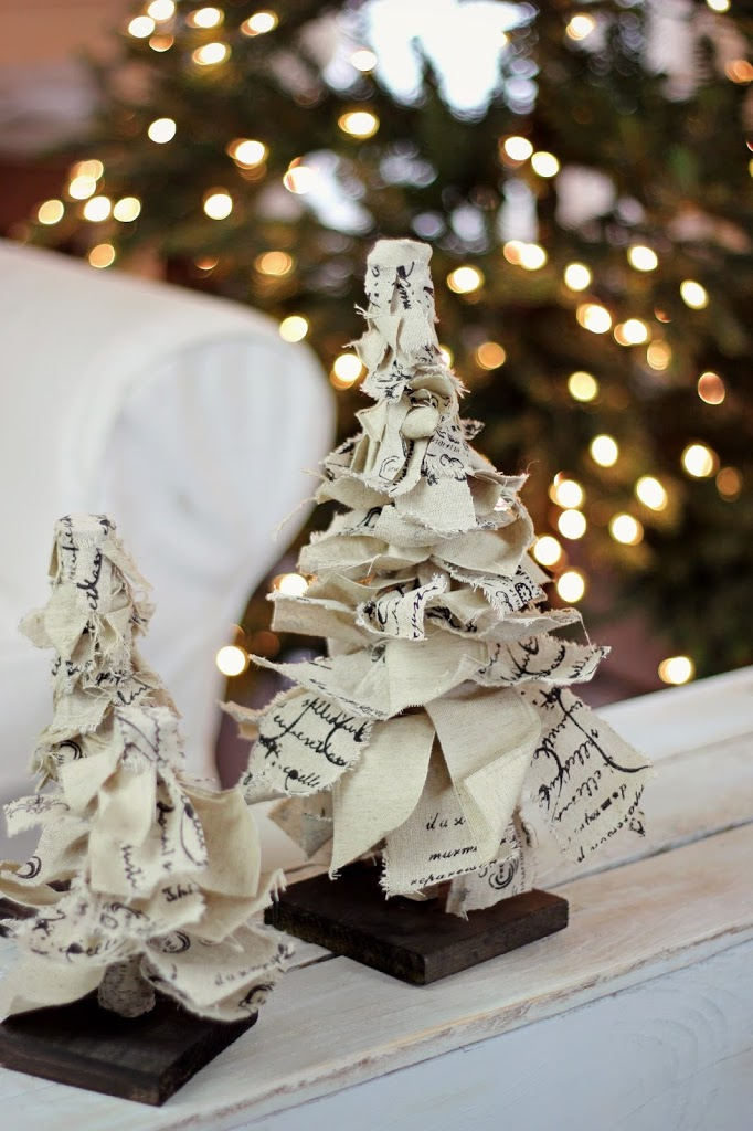 Rag Ribbon Christmas Tree DIY