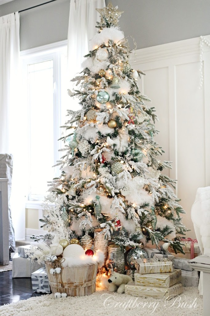 the flocked tree secret garland revealed - Feather Christmas Trees