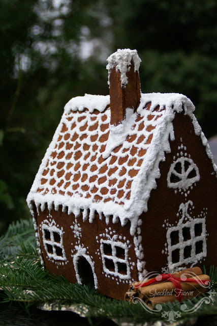 DIY faux gingerbread house