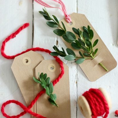 Last minute Christmas gift tags