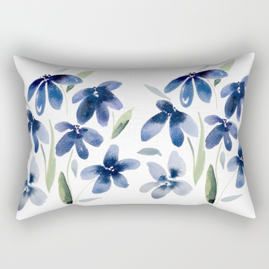 blue-watercolor-flowers-iee-rectangular-pillows
