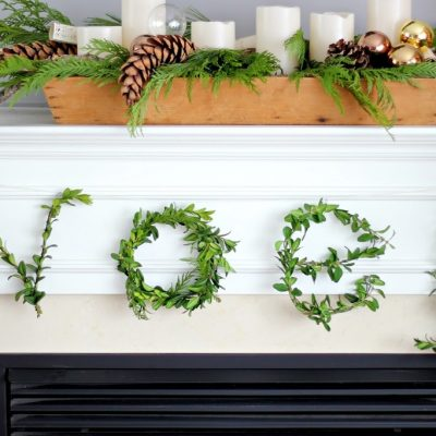 Boxwood Letters DIY