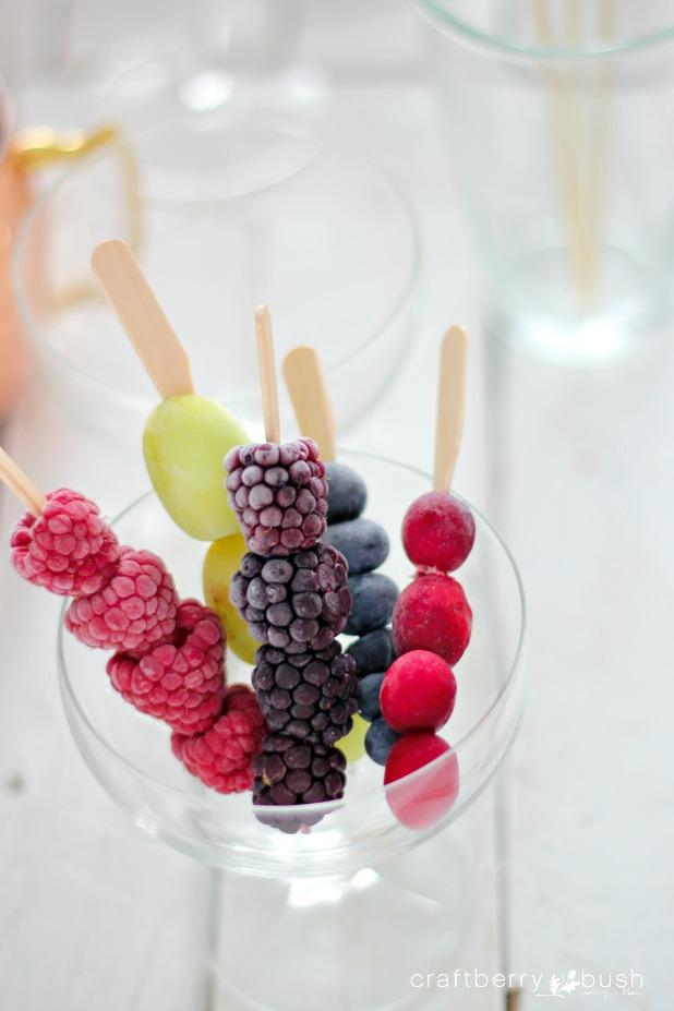 Frozen Fruit Cocktail Stir Sticks