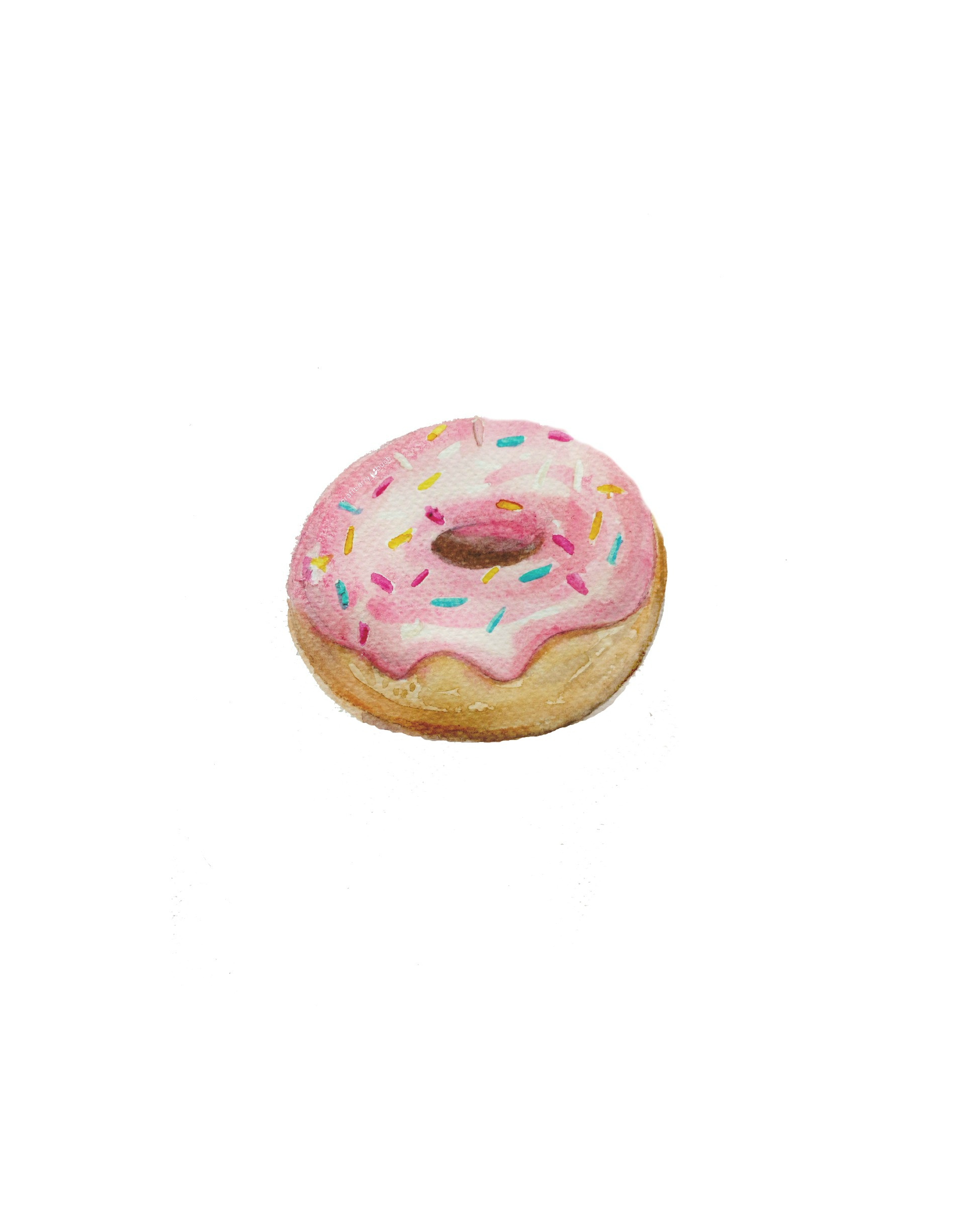 Watercolorplaindonutprintablecraftberrybush