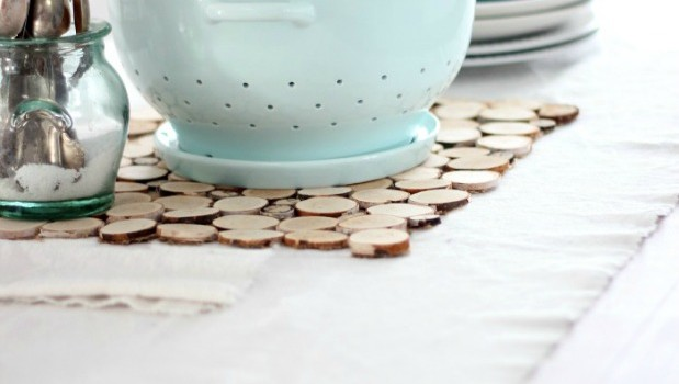Birch bark slice place mat and a winner