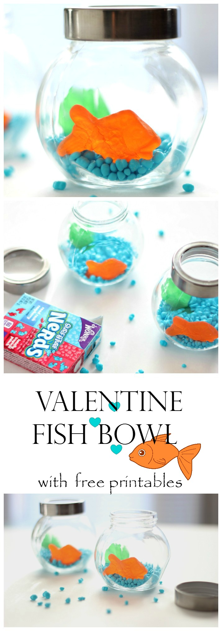 Valentine fish bowl with free printables for Fish bowl craft