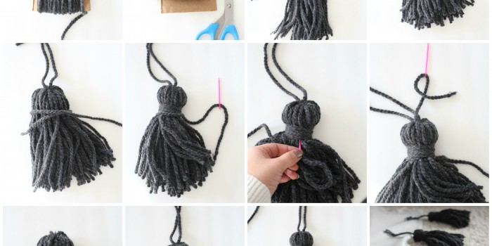 How to make a chunky tassel throw