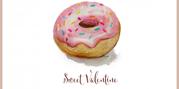 Free watercolor doughnut printable(s)