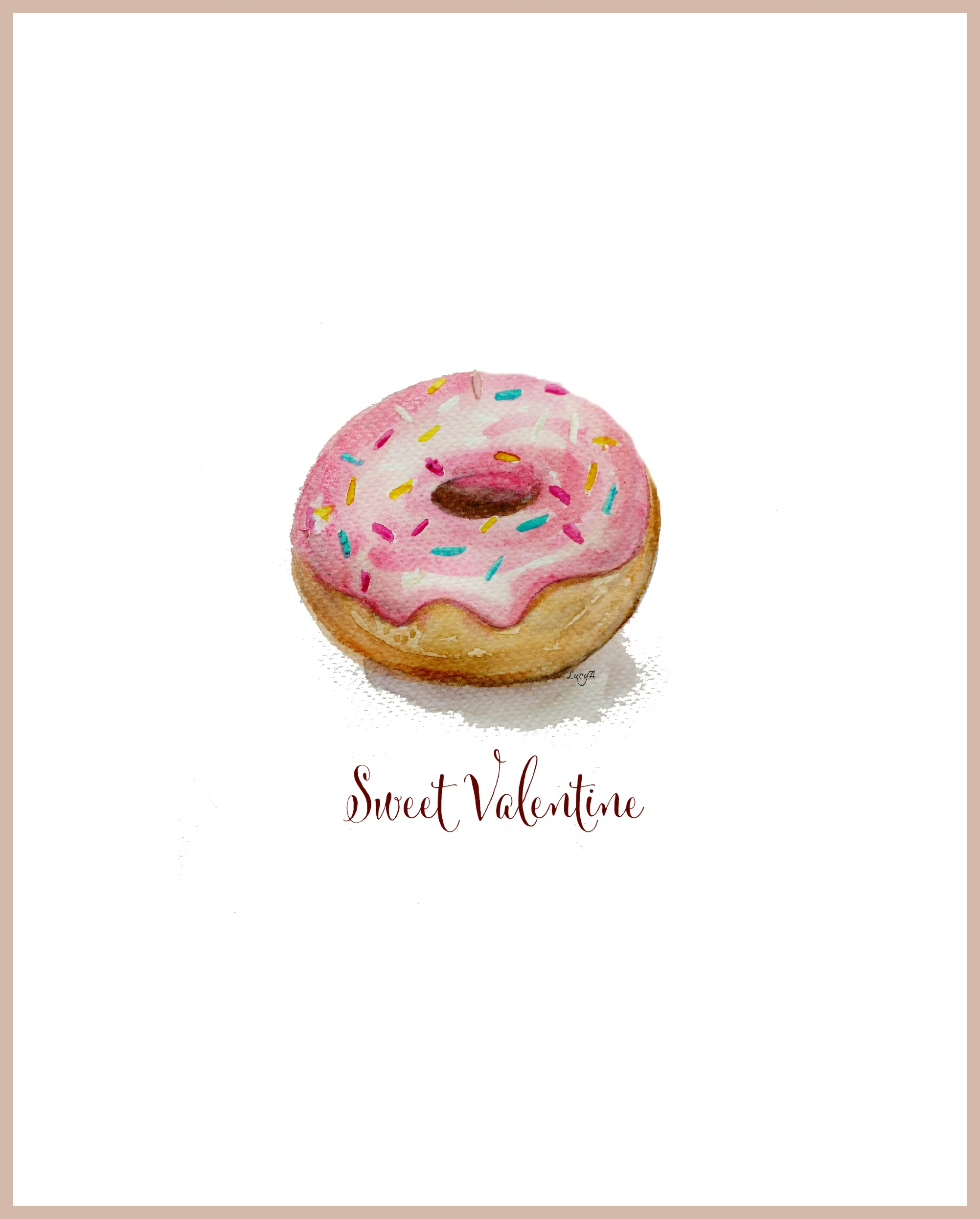 Free Watercolor Doughnut Printable S