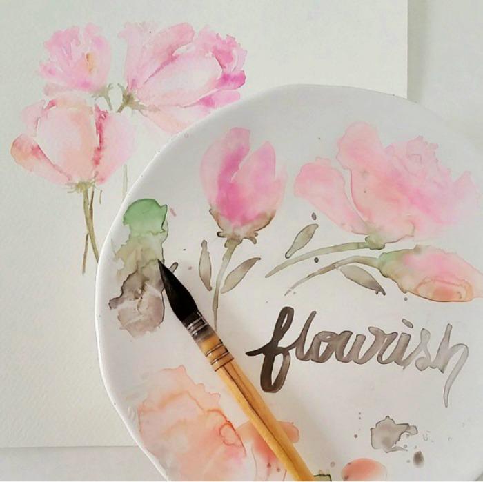 flourishwatercolorcraftberrybush