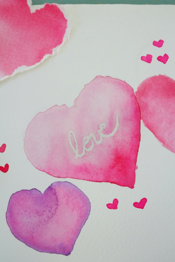 Valentine Heart watercolor tutorial