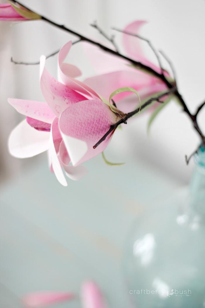 Watercolor Paper Magnolia Flower Tutorial