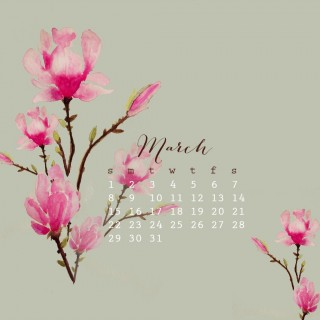 1280x1024marchdesktopcalendarcraftberrybush