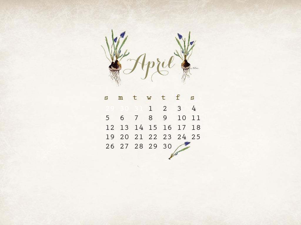 Desktop Calendar April 2016 april free watercolor desktop calendar