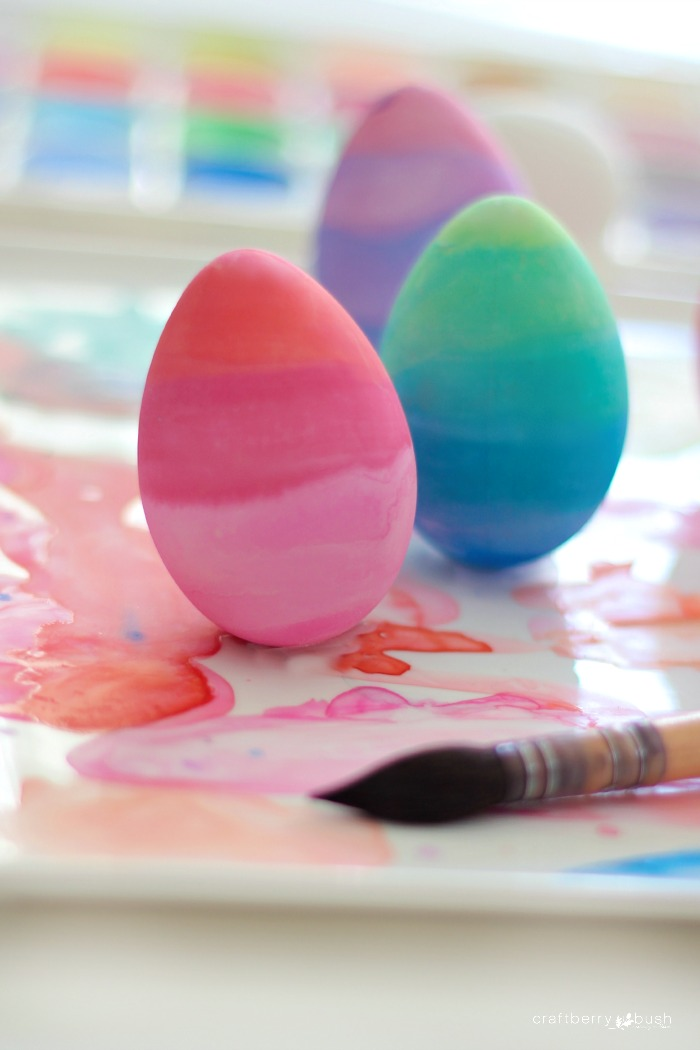 Watercolor ombre eggs and a little bit of my heart