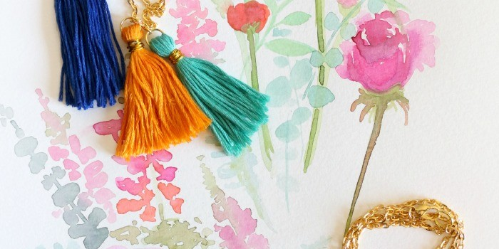 Tassel necklace and bracelet DIY