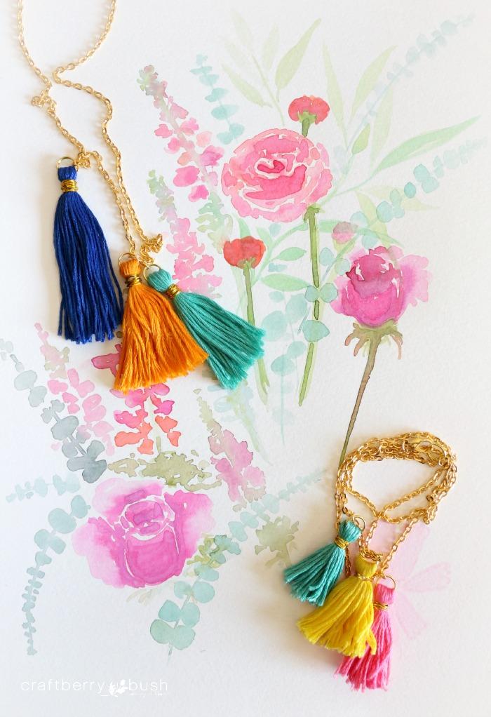 Tassel necklace and bracelet DIY