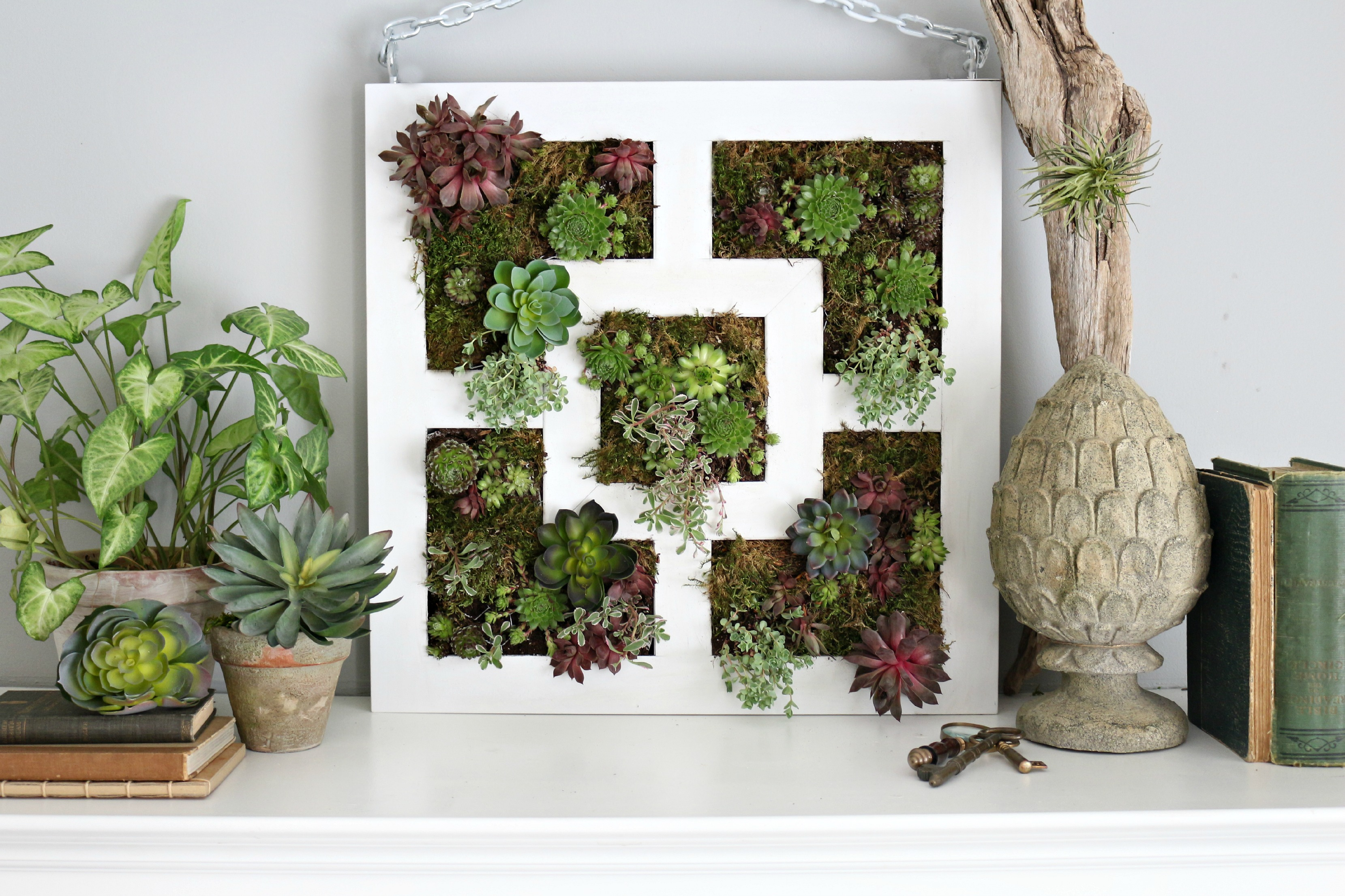 Wall Planters Ikea Ikea Lack Table Hack To Succulent Vertical Garden