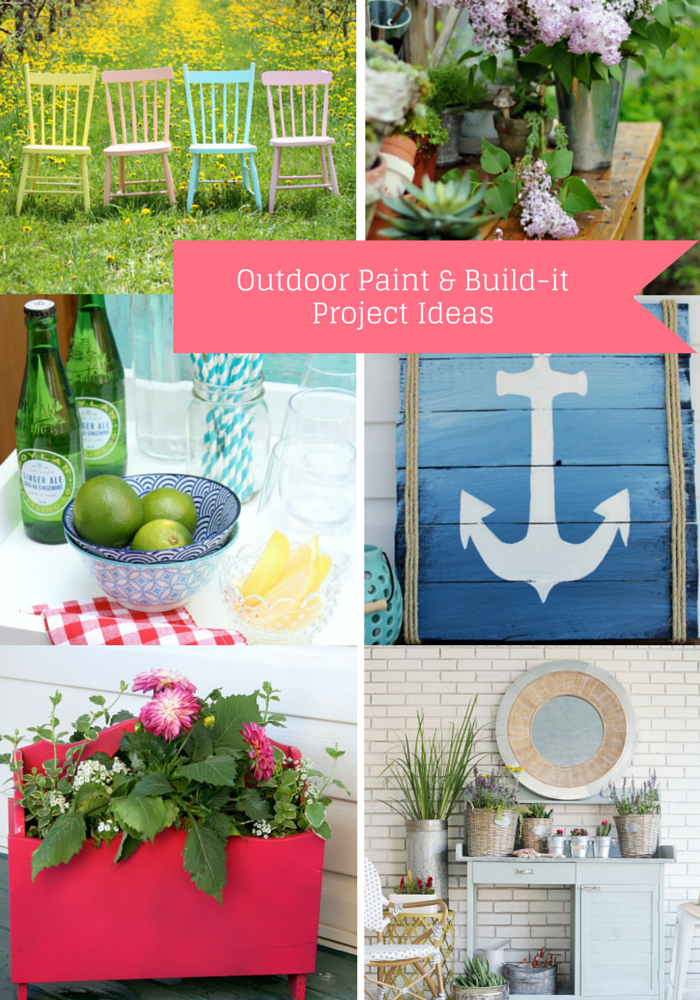 Outdoor Paint and Build-it Project Ideas
