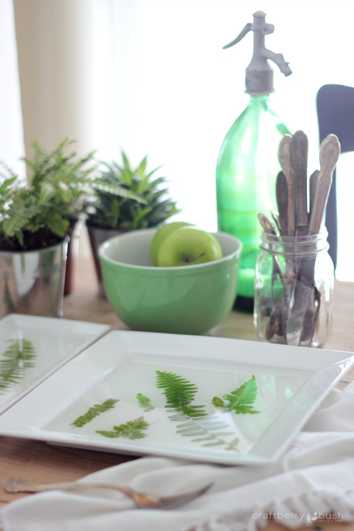 Pressed Fern Resin Tray