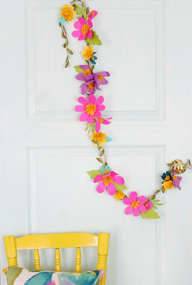 Paper flower garland mightylinksfo
