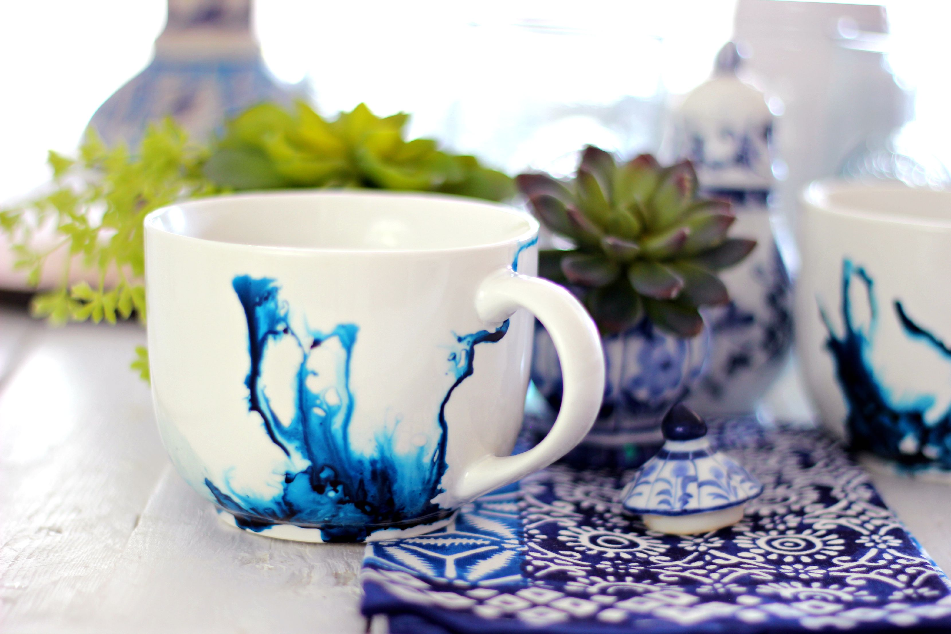 Watercolor Mugs Using Alcohol Ink And An Exciting Announcement