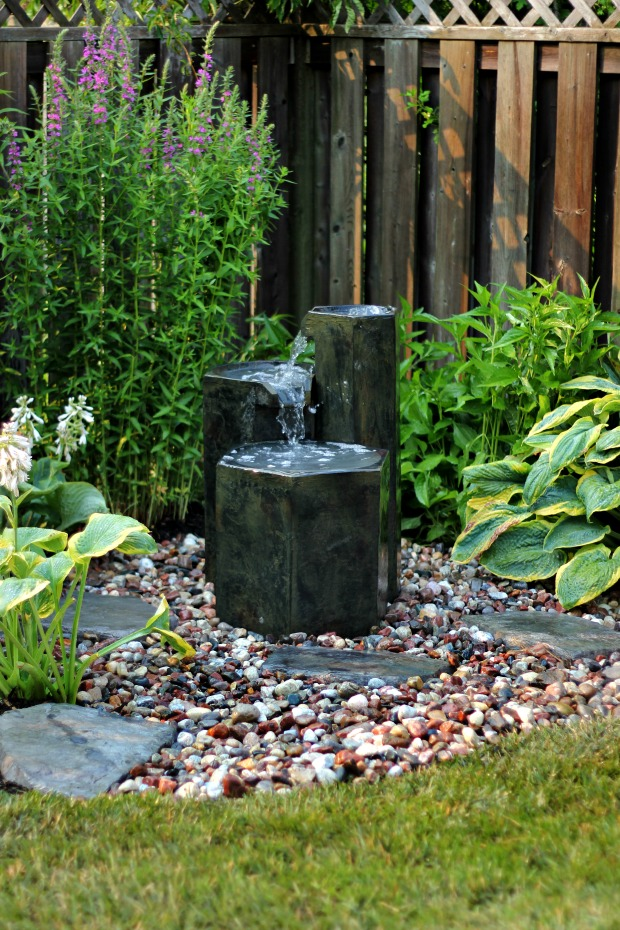 Easy to install garden fountain for Garden feature ideas