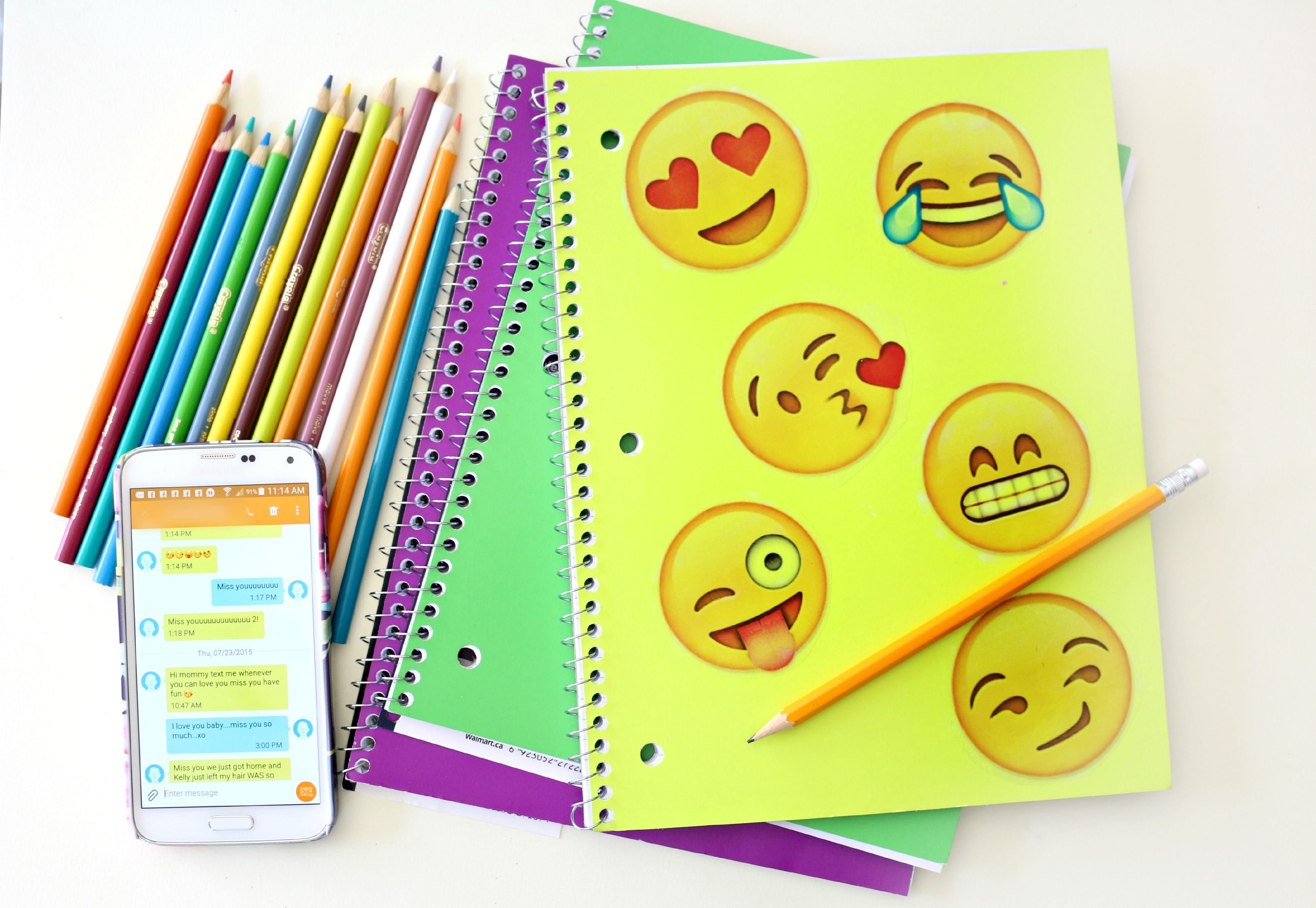 Emoji Inspired Notebook Diy