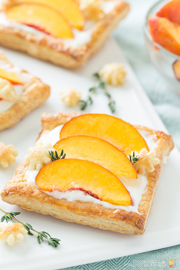 Peach Tart with Cream Cheese and Thyme