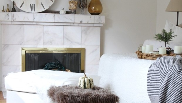 Faux fur foot stool DIY