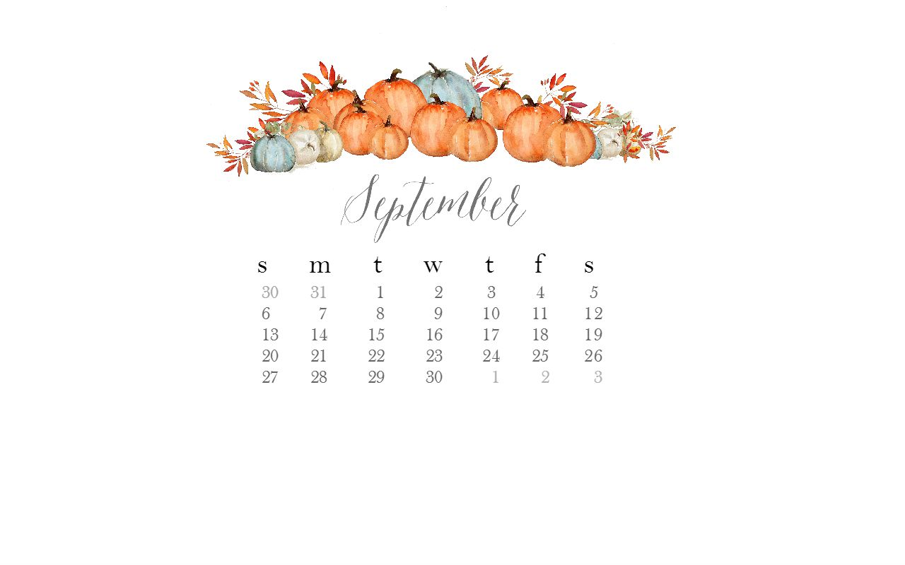 New Desktop Calendar for September | Love Mae Blog