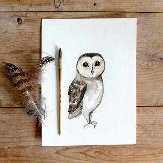 owlwatercolor