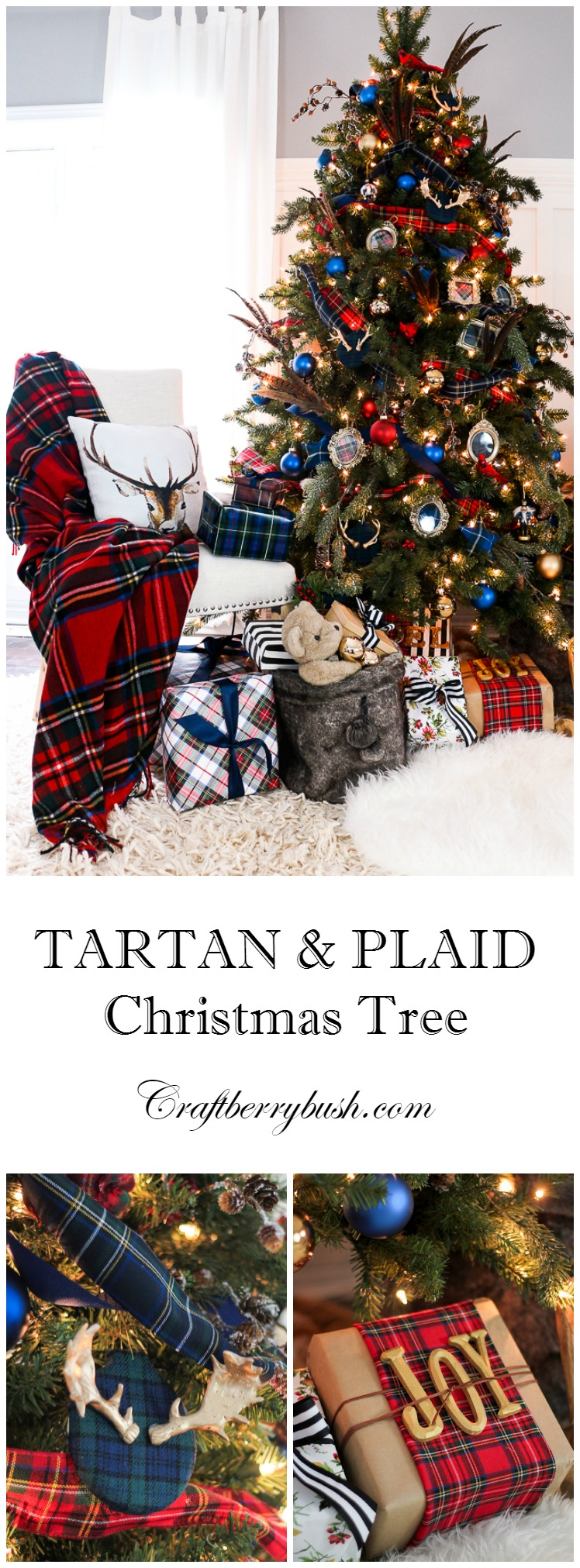 tartanandplaichristmastreecraftberrybush - Plaid Christmas Tree Decorations