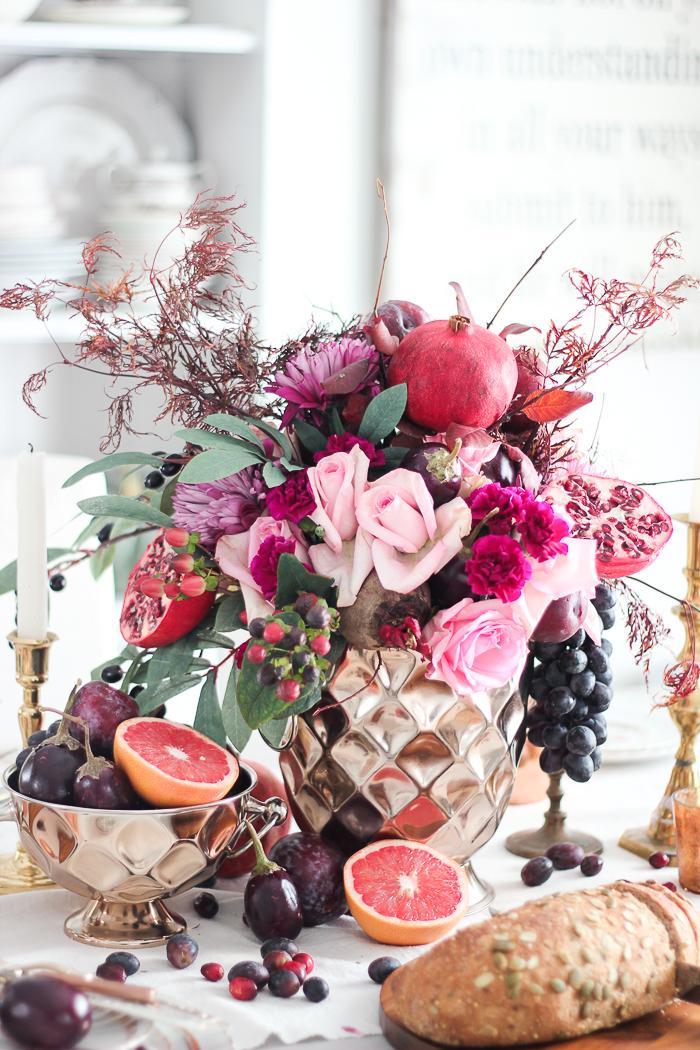 Thanksgivingtablescapecraftberrybush