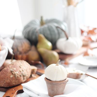 Simple Neutral Fall Tablescape