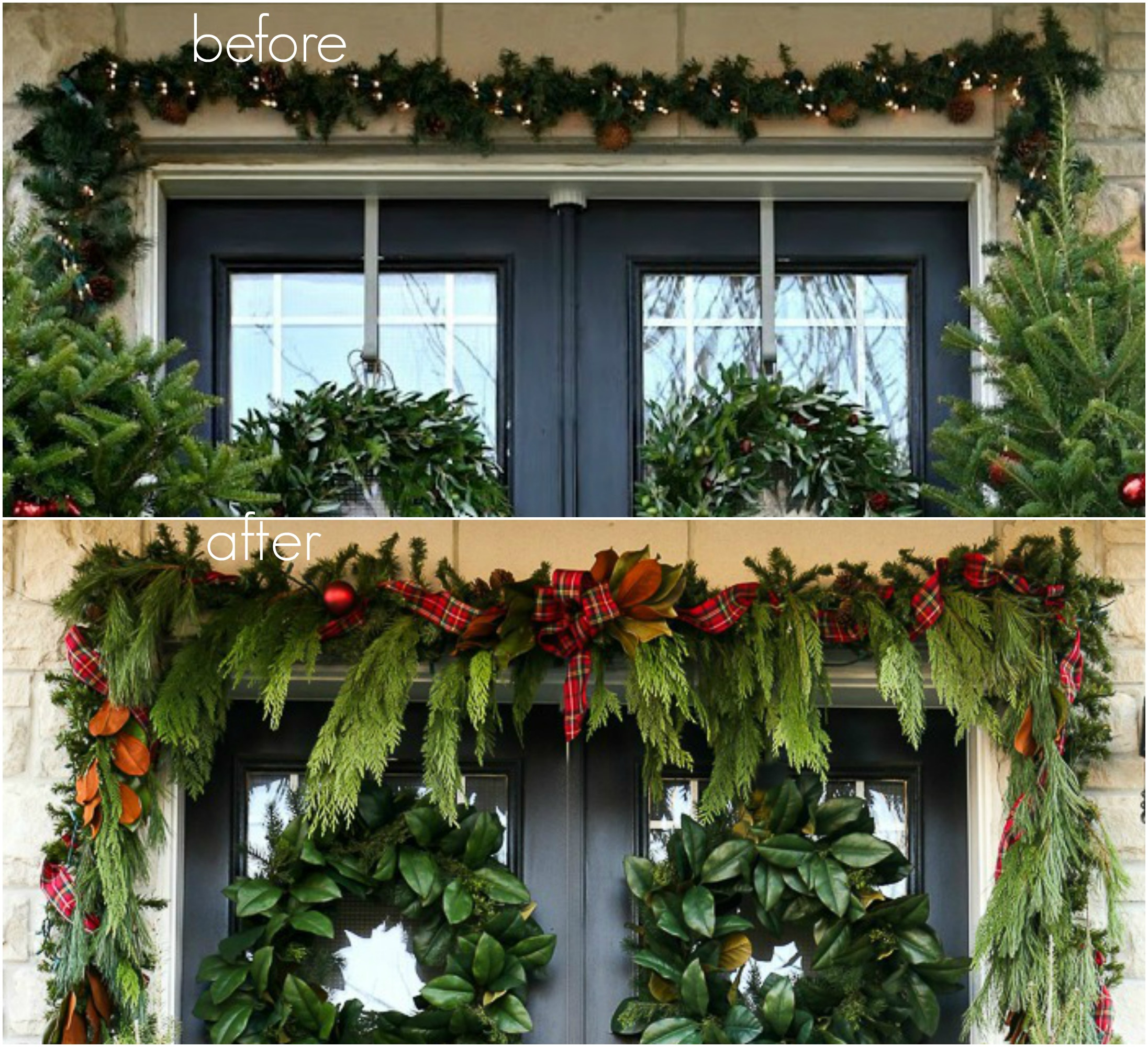 A garland hack and how to make and hang window christmas swag for Christmas swags and garlands to make